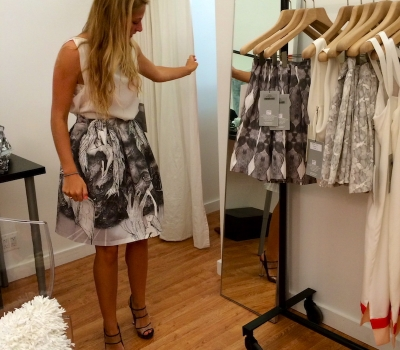 client trying on clothing
