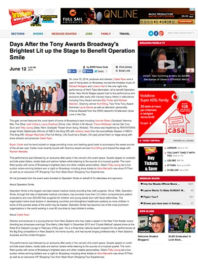 Broadway World June 2014 - Broadway World